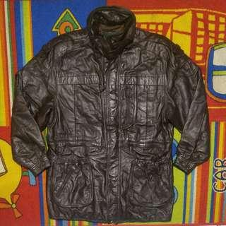 jaket kulit coat parka mostang