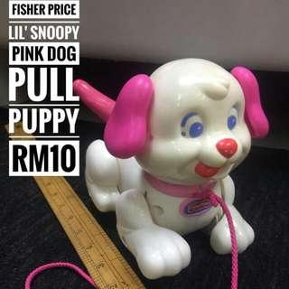 Fisher Price Pink Dog Pull Puppy