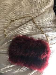FLUFFY RED BAG