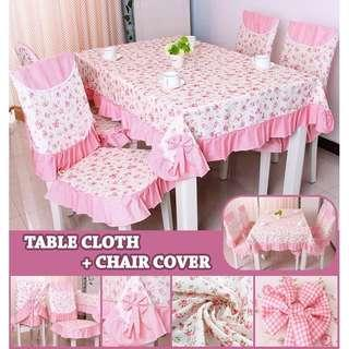 TABLE COVER + 6 PCS CHAIR COVER #xmas25