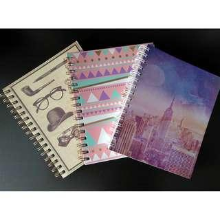 3x Typo A5 Notebooks (New)