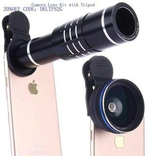 Free Coupon code for 20% off Camera Lens Kit,WMTGUBU 4 in 1 HD Universal Clip-On Phone