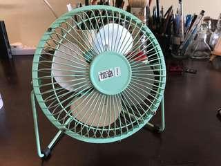 Teal Mini Fan