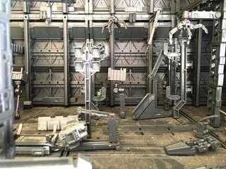 基巢 前線機地 裝備架 高達模型hg mg適用 可自砌配搭