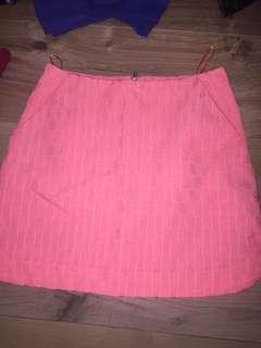 Mini Skirt Topshop Neon Pink