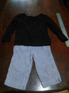 ❇️ REPRICED ❇️ Baby Black Shirt and Pants