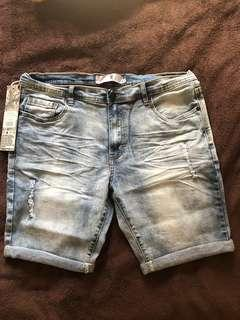 Brand new W Denim shorts - size 32