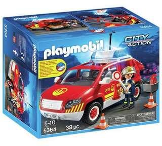 Playmobil Fire chiefs car w/ lights and sound