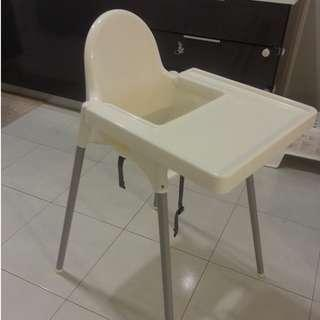 Ikea Baby High Chair with Safety Belt