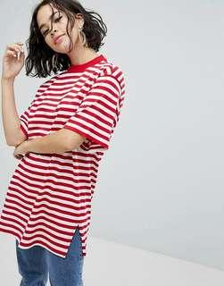 Monki Oversized Striped Tee