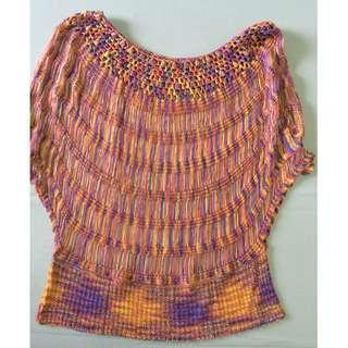 Handknit Colorful Art Top