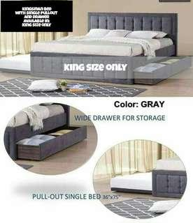 Kingsman Bed Frame with pullout drawer