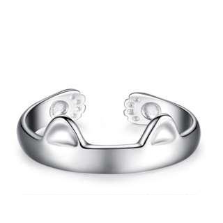 BNIB Sterling Silver S925 Cat Ears Ring (Adjustable)