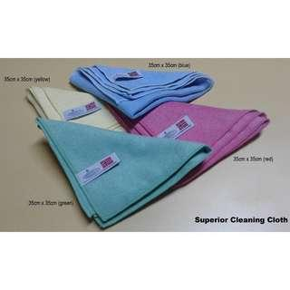 Superior MicroFibers Cleaning - 4 Pcs + 1 pc Window Polishing Cloth
