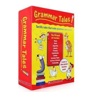 💥 NEW -  Scholastic Grammar Tales Box Set - Children learning books