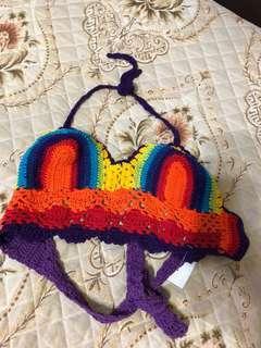 Rainbow bralet