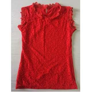 Lace sleeveless dainty top