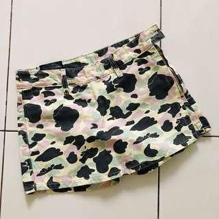 BN Military Camo Denim Skirt Shorts Skorts