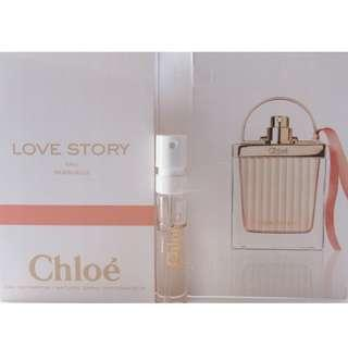 #EVERYTHING18 FREE SHIPPING CHLOE LOVE STORY 1.2ML EDP SPRAY