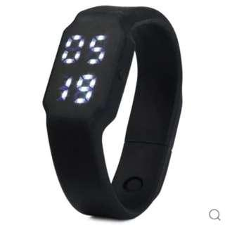 BNIB W1P Smart Wristband 3D Pedometer USB Plug Watch, Price Reduced to $18, Org @ $22