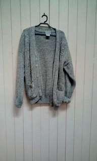 Vintage chunky knit grandpa  oversize cardi