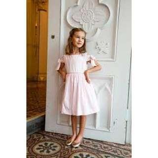 Chateau De Sable Pink Dress with Bow