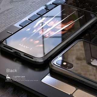iPhone XS Max Aluminium Bumper Glass Back Case