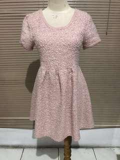 Knitted Dusty Pink Mini Dress