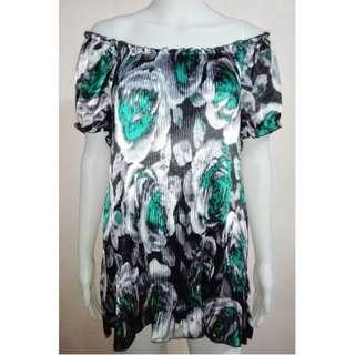 Floral Blouse Green