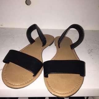rubi black sandals