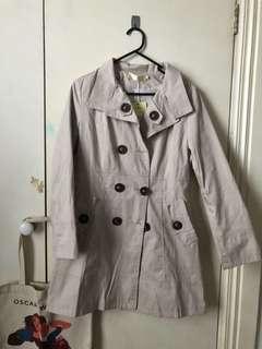 Trench Coat Jacket Size 10