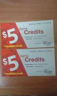 50% off Timezone Game Credits voucher