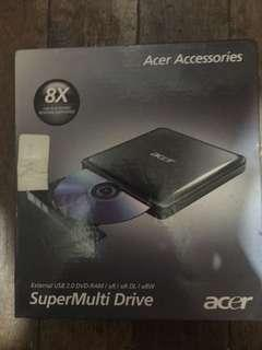 Acer 8x Slim External USB CD/DVD Writer