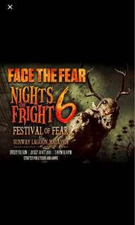 <LOOKING FOR> 4 NOF6 NIGHT OF FRIGHTS TICKET