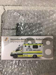 TINY 微影 38 MERCEDES BENZ 平治 SPRINTER ST JOHN 聖約翰 AMBULANCE 救護車