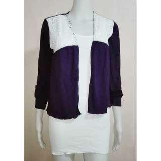 Purple Laced Casual Sweater