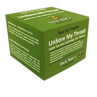 Uncle Ram's Tea For Health 'Unsore My Throat'