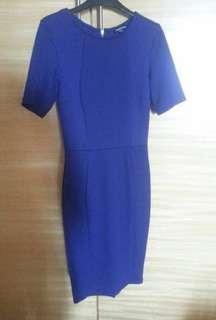 Warehouse Bodycon Blue Dress