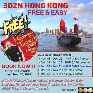 3D2N Hong Kong Free & Easy with FREE Madame Tussauds Ticket