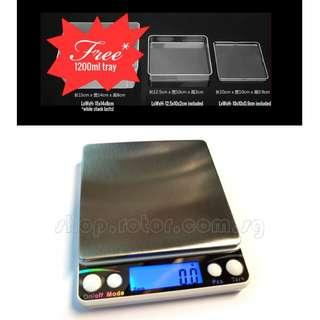 🚚 CE Approved English Edition Digital Weighing Scale (Up to 2kg. 6 Weighing Modes: g, oz, ozt, dwt, gn, ct. Code: I2000-2
