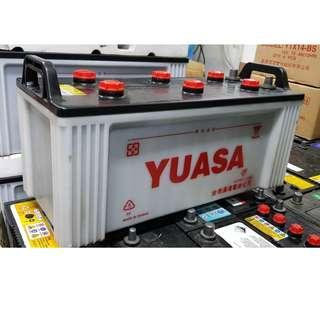 (二手中古電池) YUASA 145G51 (N150) 貨車電池.卡車電池.發電機電池 數值漂亮,品項優