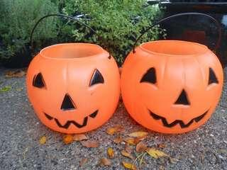 🎃Halloween👻Smiling pumpkin buckets Lantern Candy 🍭Bucket Trick or Treat Props Party 🎉 pail