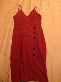 TEMT RED midi dress
