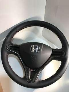Honda stream RSz or non RsZ model Nappa leather steering wheel service