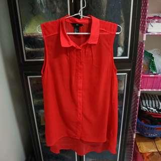 H&M Red Tank Top Blouse