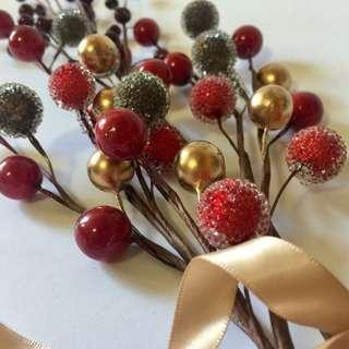 Christmas Holy Berry Branch Home Deco 聖誕 裝飾