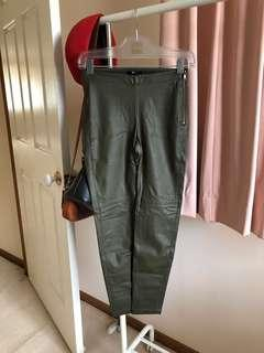 H&M Olive Pleather Pants