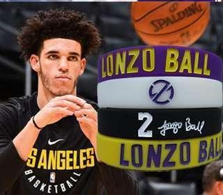 NBA 手帶 湖人 Lakers BALL