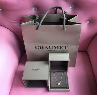 💓CHAUMET PARIS 18k金鑽石頸鏈~✨