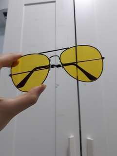 $6 MAILED no degree yellow aviators sunglasses faux spectacles ulzzang